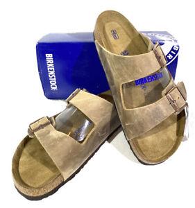 Birkenstock Arizona BS Men's Size 12 (EU45)Reg/Sftbd Brown Slide Sandals S1-349
