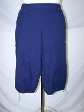 JMS Just My Side Blue Pull On Long Shorts Womens Plus Size 1X 14W 16W