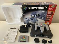 Nintendo 64 N64 Console Boxed Super Mario 64 PAL CLEANED AND TESTED VGC