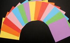 COLOURFUL PLAIN PAPER x 14 - 15cm x15cm (6 X 6) Scrapbooking/Cardmaking
