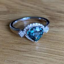 Platinum 2.13ct Diamond & Nigerian Sapphire Ring Tomas Rae & Certificate Rare
