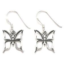Sterling Silver Cutout Butterfly Wire earrings