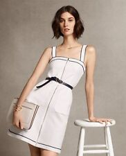Ann Taylor – Petite 8P White Tipped Zip-A-Line Dress $139.00