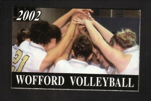 Wofford Terriers--2002 Volleyball Pocket Schedule