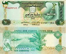 UNITED ARAB EMIRATES 10 Dirhams Banknote Paper Money World Currency Pick p20d