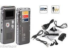 MINI REGISTRATORE DIGITALE 8 GB USB VOCALE TELEFONICO SPIA VOX BATTERIA LITIO