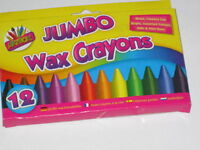 Artbox 12 jumbo size wax crayons set of 12 assorted colours 5073