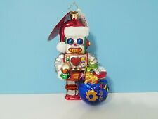 Christopher Radko From The Bottom Of My Heart Drive Robot Christmas Ornament Nwt