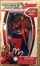 Avengers Iron Man Super Smile Set Toothbrush Holder Set New Marvel
