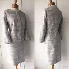 NEXT Vintage 60's Grey Tweed Skirt Jacket Suit Office Business 16/18UK