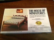 1/12 CHIPPENDALE LOW POST BED KIT #40033 HOUSE OF MINIATURES OPEN COMPLETE