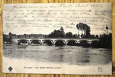 """CPA """" SAINT ASTIER - Le Pont -"""