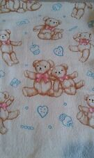 A TEDDY PINK BOW TOWEL, HAND TOWEL, CHILD'S COMFORTER, COSY BLANKET 100% COTTON