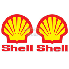 Shell Fuel Motorcycle & Car Racing Vinyl Sticker Decal x2