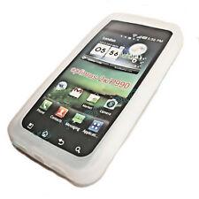 Silikon TPU Handy Hülle Cover case Schale Schutz Weiß für  LG P990 Optimus Speed