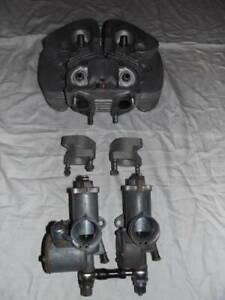 BSA A10 Twin Carburetor Cylinder Head *Manifolds only