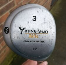 A NICE YOUNG GUN 15 DEGREE 3 WOOD GREEN CODE AGED 12-14 IN GOOD CONDITION.