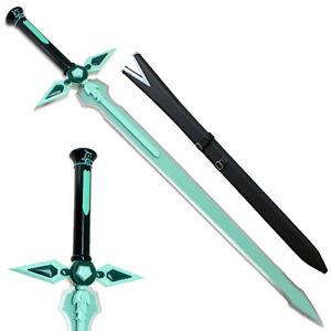 SAO Dark Repulser Sword w Wood Sheath KIRITO Kirigaya Art Online STEEL Green