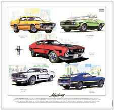 Ford Mustang 1969-73 - Fine Art Print-Shelby jefe 351 302 Convertible Mach 1