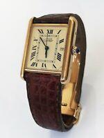 Cartier Must de Cartier Tank Watch 2413 Vermeil