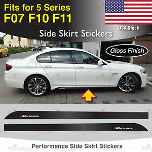 Fits BMW F07 F10 F11 5 Series M Performance Side Skirt GLOSS Decal Stickers US