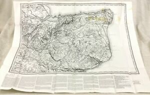 1889 Large Antique Map of Canterbury Kent Dover Sandwich 1980 Reproduction