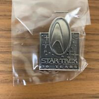 NEW Unopened in Bag Hallmark Star Trek 30th Anniversary Pewter Pin 1996