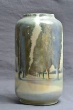 Royal Doulton Pottery Vase, Scenic Vase By R Holdcroft, 1925-73
