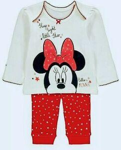 Pyjama Dors Bien Minnie Disney Mouse B/éb/é Fille 6//12//18//24 Mois