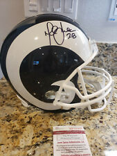 Marshall Faulk Autographed Full Size Helmet Rams Jsa Authentic