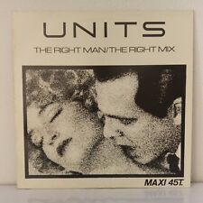 "Units ‎– The Right Man (Vinyl, 12"", MAXI 33 TOURS)"