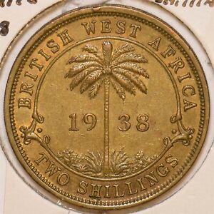 British West Africa 1938 2 Shillings 297782 combine