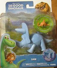 Disney Pixar THE GOOD DINOSAUR SAM ~ 5 inch Poseable Figure With Critter