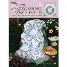 Cross Stitch Blocks for Quilts Flowers So Fair  Iron On Transfers Leisure Arts