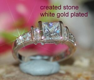 1.5ct 6x5mm princess-DIAM0ND ring size N 7