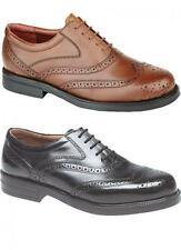 Mens New Leather Brogues Lace Shoes Black / Brown Size 6 7 8 9 10 11 12 13 14