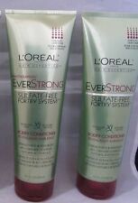 2 Pack L'Oreal EverStrong Sulfate-Free Fortify System BODIFY Conditioner Set