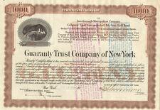 Interborough-Metropolitan > Guaranty Trust Company of New York stock certificate