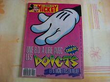 JOURNAL DE MICKEY N°1842 OCTOBRE 1987 UNE BD A LIRE AVEC LES DOIGTS