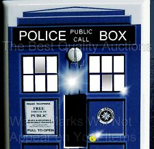 "DR WHO TARDIS LIGHT SWITCH COVER PLATE  STD  2.75""  X 4.5"" UV & WATERPROOF NEW !"