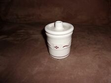 Longaberger Traditional Red Condiment Crock - Made in Usa
