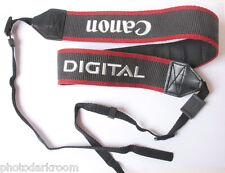 "Canon EOS Digital 1.5"" Classic Camera Strap 3/8"" Loop Blinder USED C163"