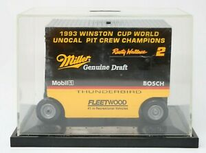 1993 Action Rusty Wallace Winston Cup MILLER BEER Pit Crew Wagon Bank w/ Case