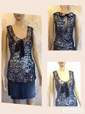 NEW M&S Autograph Women's Black Vest Top Sleeveless Embellished Sequence Size 14