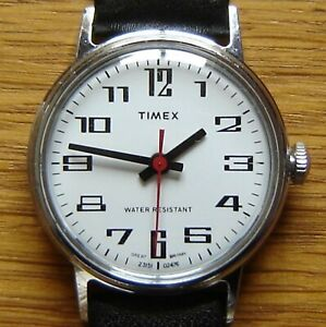 Mens Vintage 1976 Timex Mechanical Wind Up Wrist Watch -  British Made & FWO