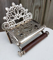 Victorian Toilet Roll Holder Unusual Novelty Vintage Retro Nickel Finish