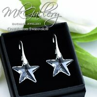 925 Sterling Silver Earrings STAR - Crystal Clear 20mm Crystals from Swarovski®