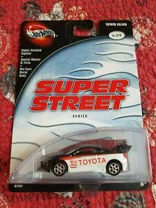 Hot Wheels  100% 2002 Super Street Series #3/4 Black&White Toyota Celica