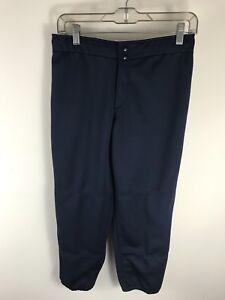 New Mizuno Women's Fastpitch Blue Pants Softball Sz Medium No Loops NWT