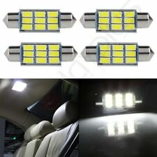 4X White 1.73 inch/44mm 9SMD-5730 Car Interior Festoon LED Lights For Dome Map